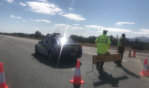 Augusta Highway remained closed up until the afternoon while police investigated.