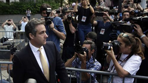 Michael Cohen outside a federal court in Manhattan.