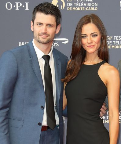 James Lafferty, Alexandra Park and Stephen Colletti attend the opening ceremony of the 58th Monte Carlo TV Festival on June 15, 2018 in Monte-Carlo, Monaco.