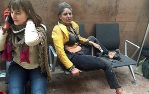 Woman in iconic Brussels bombing photo wakes from coma