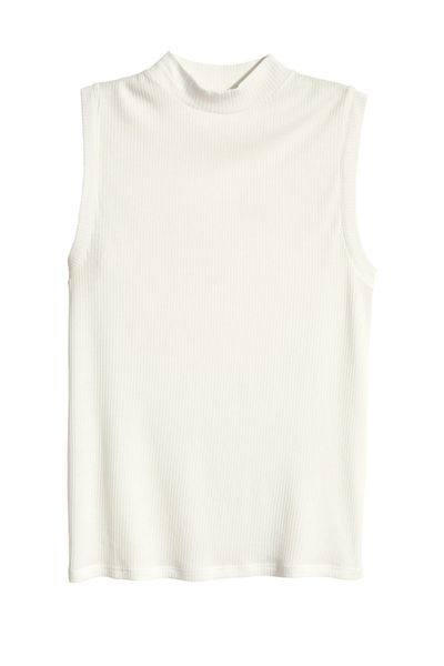 <p>Ribbed tees and tanks will be everywhere next season, so I'm buying up now.</p>