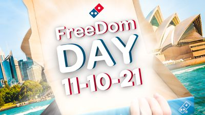 Attention NSW: Domino's is giving away free pizzas for Freedom Day