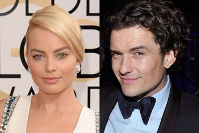 """According to Perez Hilton, Margot kissed newly single Orlando Bloom at a Golden Globes after-party. With <i>New York Post</i>'s Page Six also reporting that the pair were """"flirting"""". <br/><br/>After recently splitting with Aussie model Miranda Kerr, it looks like this <i>Hobbit</i> star may have a thing for Aussie babes!<br/><br/>(Images: Getty)"""