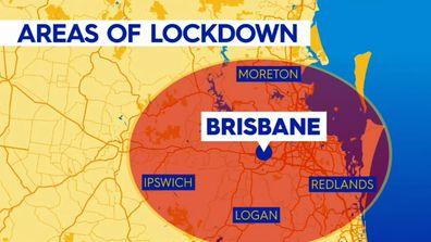 Brisbane lockdown area