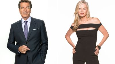 Jack Abbott (Peter Bergman) and Ashley Abbott (Eileen Davidson)