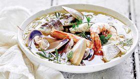 Summery seafood stew