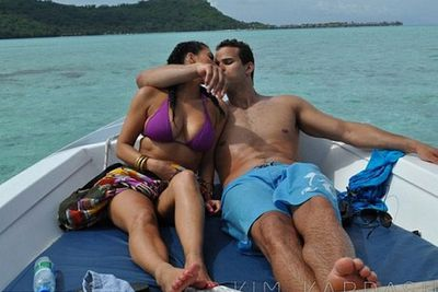 The Kardashian/Jenner clan chill out in Bora Bora... with some sharks!
