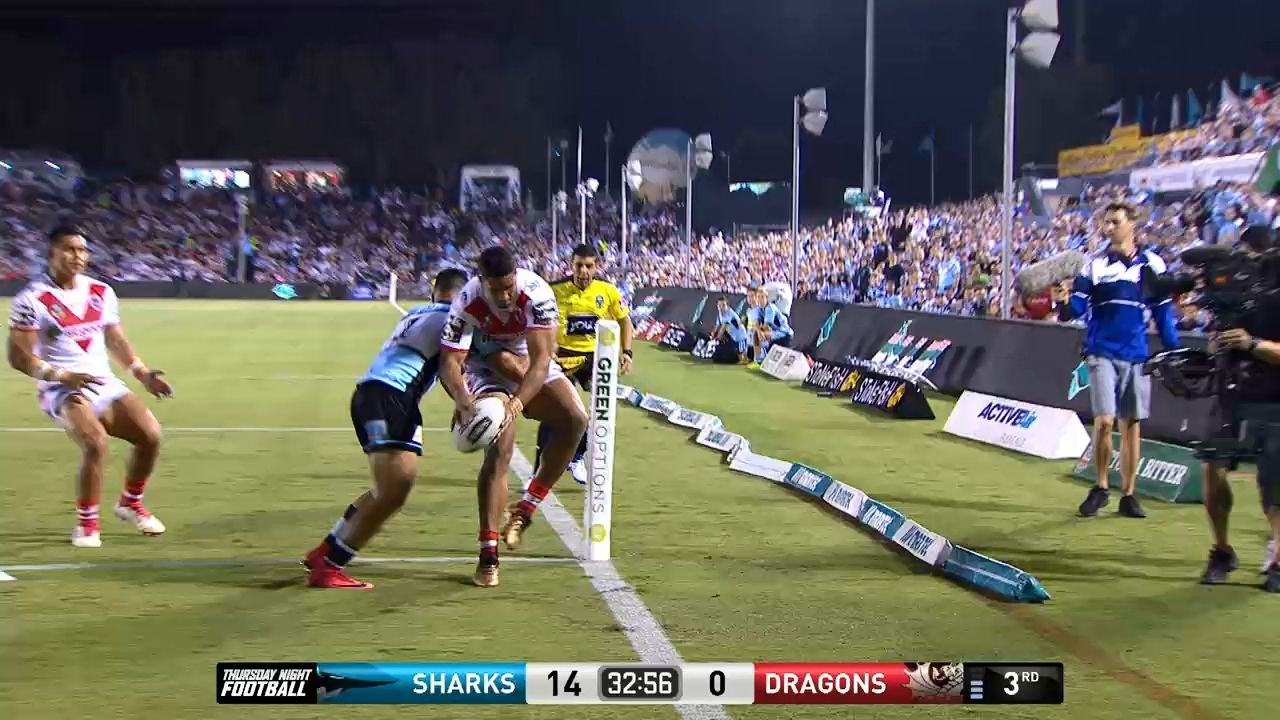 Nene Macdonald puts up his entry for try of the year contender