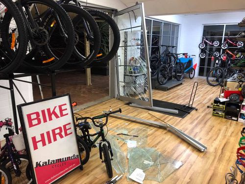 Several bikes were taken from the shop.