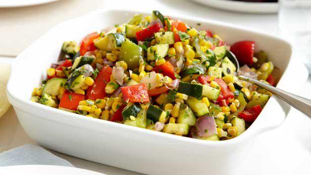 Curtis Stone's sweet corn and zucchini ratatouille