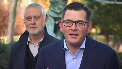 Victorian Premier Daniel Andrews discussing eSport in Melbourne today. (Supplied)