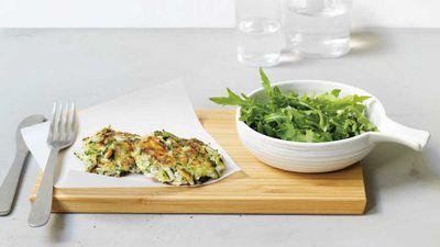 "Recipe: <a href=""http://kitchen.nine.com.au/2017/07/16/17/08/zucchini-and-feta-fritters"" target=""_top"" draggable=""false"">Zucchini fritters</a>"