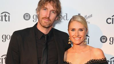 Magdalena and husband chef Darren Robertson - happier times. Image: Getty.