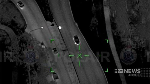 A couple are accused of leading officers on a high-speed pursuit through Brisbane. (9NEWS)