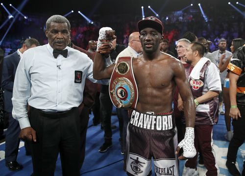 Crawford declared the winner of the bout. (AAP)