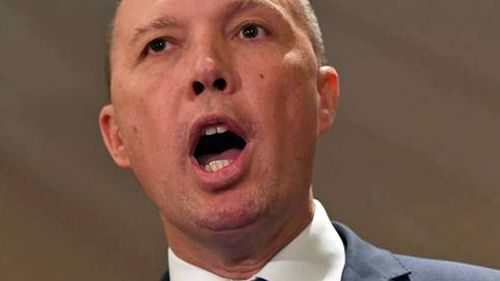 Home Affairs Minister Peter Dutton,