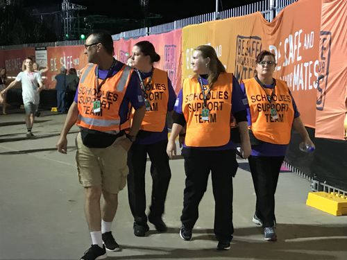 Hundreds of volunteers, police and paramedics will work to keep Schoolies safe. (Shellie Doyle)
