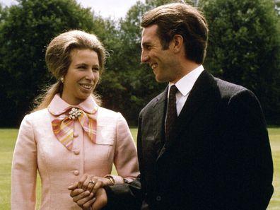 Princess Anne's engagement to Captain Mark Phillips
