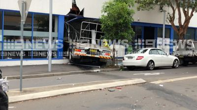 St Marys truck crash: Vehicle ploughs into building