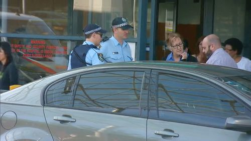 Police are now on scene at the four Sydney hospitals. (9NEWS)