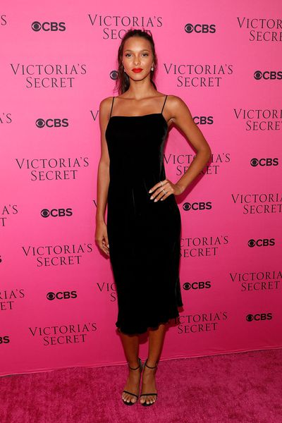 Lais Ribeiroat the Victoria's Secret viewing party in New York.