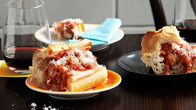 "Recipe: <a href=""http://kitchen.nine.com.au/2016/05/13/12/49/the-wine-library-meatball-smashies"" target=""_top"">Meatball smashies</a>"