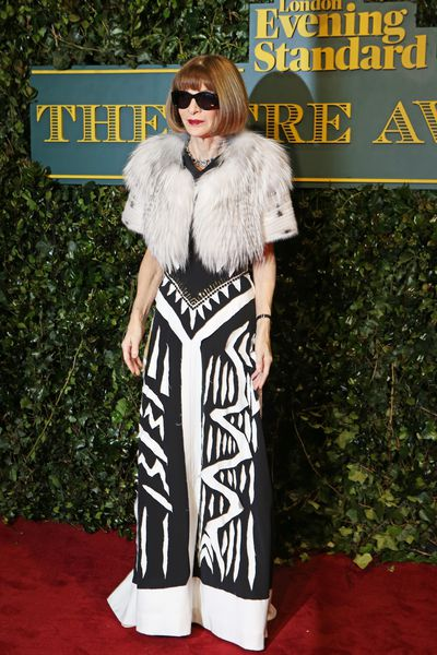 Anna Wintour in Maison Margiela at the London Evening Standard Theatre Awards.