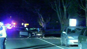 Man who survived crash killed by passing car while inspecting damage