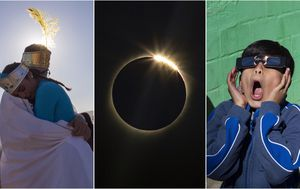 South American skies host spectacular solar eclipse