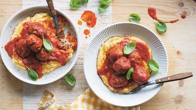 Dr. Joanna McMillan's ricotta zucchini meatballs in tomato sauce