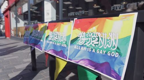 "Southern was barred from the UK for a stunt where she handed out flyers calling Allah ""gay""."