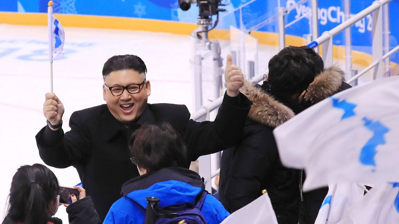 North Korean cheerleaders giggle at fake Kim Jong-Un 'from Australia'