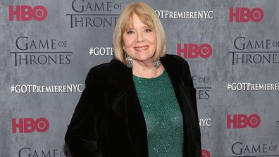 "Dame Diana Rigg attends the ""Game Of Thrones"" Season 4 premiere at Avery Fisher Hall, Lincoln Center on March 18, 2014 in New York City"