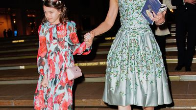 Katie Holmes and Suri Cruise's twinning moment