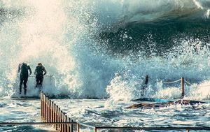 IN PICTURES: Wild weather thrashes NSW creating winter wonderland in the alps and monster waves on the coast
