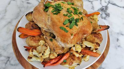 Easy, classic roast chicken and vegetables