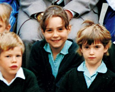 Here she is in 1988, as a super-cute student at St. Andrew's Prep School in Pangbourne.