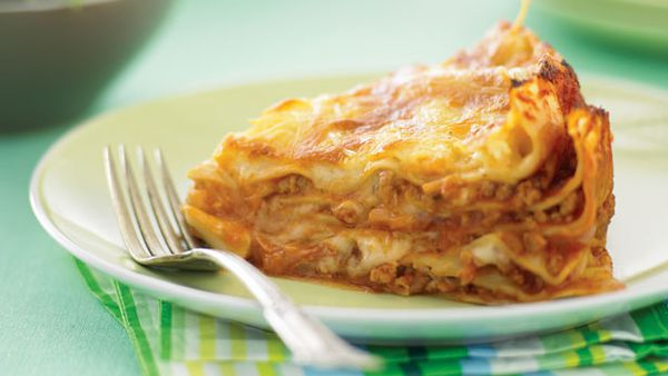 Lasagne pie with pork