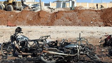 Dozens were killed in the Syrian car-bombing. (AFP)