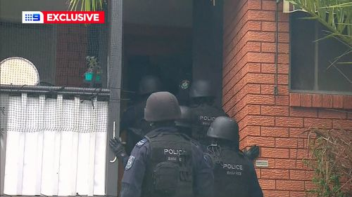 Seven houses were raided across Sydney today.