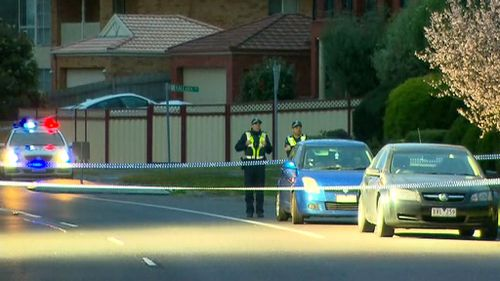 Police at the scene of the suspected attack. (9NEWS)