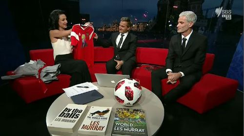 In response, Zelic told Foster this his work 'needs to be appreciated' and offered him a memento in the spirit of the late Les Murray. Picture: SBS.
