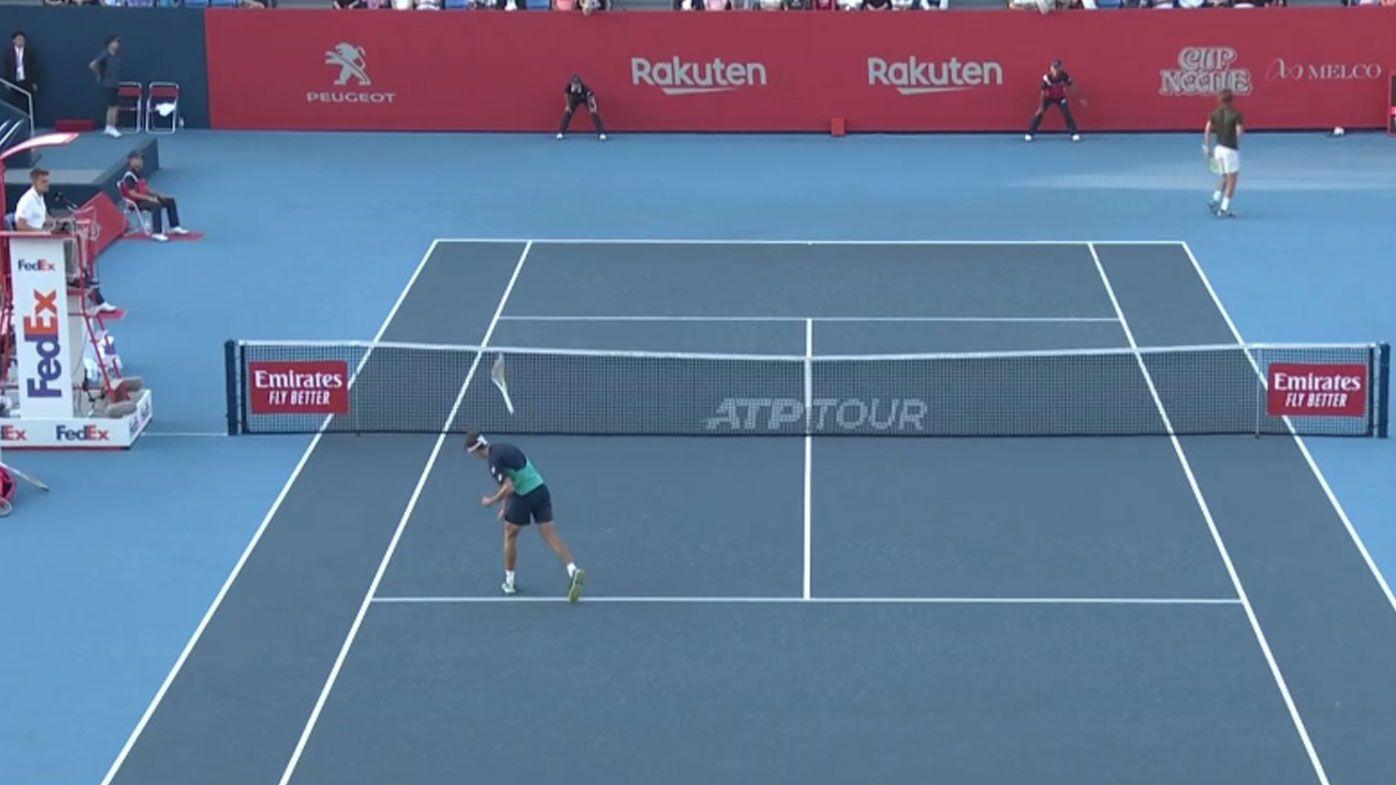 Alex de Minaur loses his cool at Japan Open after botched lob, code violation