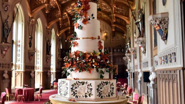 Princess Eugenie and Jack Brooksbank's red velvet wedding cake