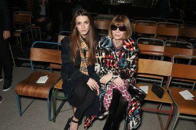 <em>US Vogue </em>editor-in-chief Anna Wintour and daughter Bee Shaffer at Burberry A/W '18, London Fashion Week