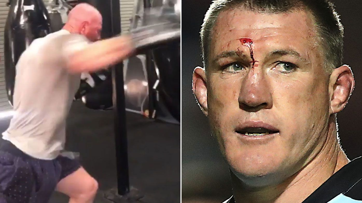Paul Gallen declares Barry Hall fight is 'set up' for ambush by AFL great