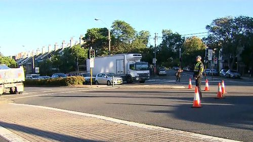 A crime scene is now in place and the truck driver is helping police with their enquiries. (9NEWS)