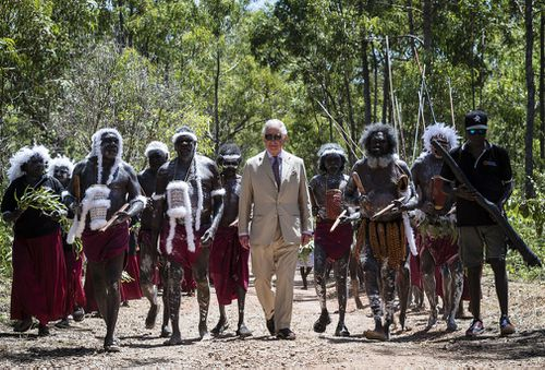 Prince Charles has toured the Northern Territory. (AAP)