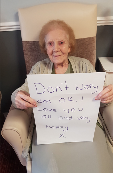 Residents at Dearnlea Park Residential Home share messages to their families during coronavirus isolation.