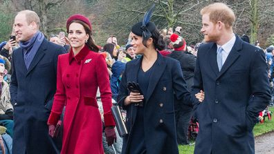 Meghan Markle with the royal fab four